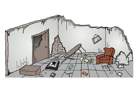 ruins: Ruins house Illustration