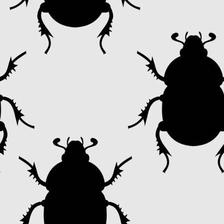 seamless: insects seamless Illustration