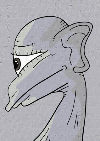 face to face: Alien face