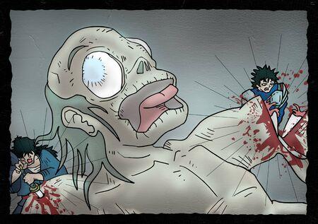 gore: creative monster illustration