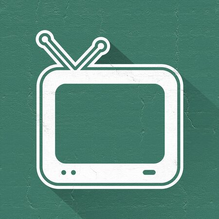 television icon: green television icon