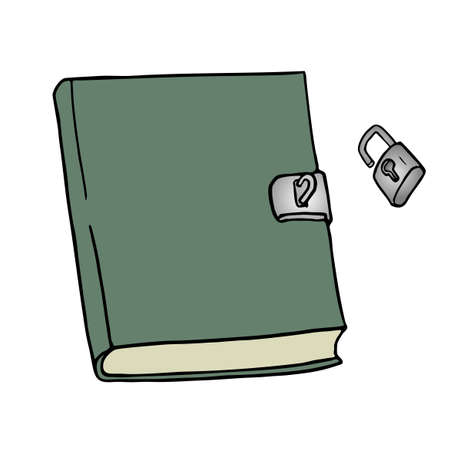 diary: notebook draw Illustration