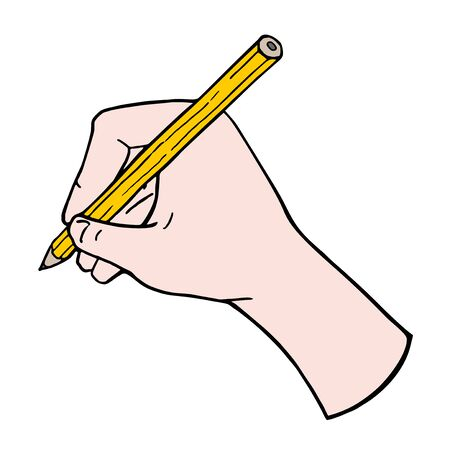 educative: hand with pencil
