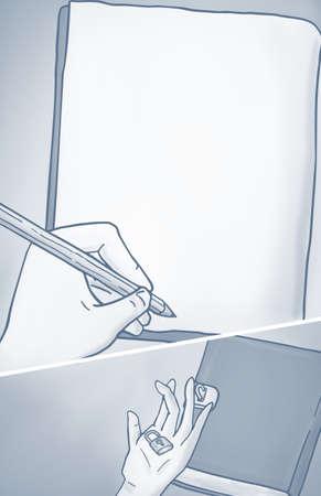 educative: writing illustration