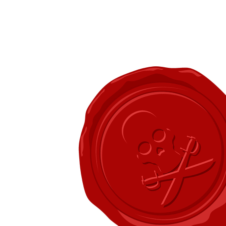 wax: wax seal illustration Illustration
