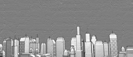 city: comic city Stock Photo