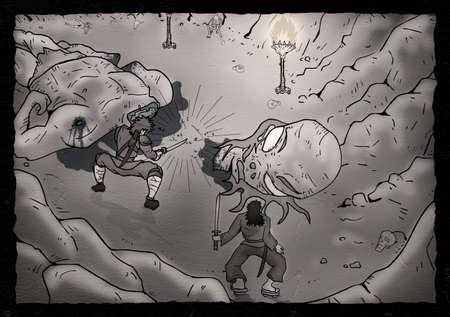 creative: creative monster illustration
