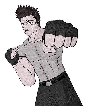 rant: Martial art man Stock Photo