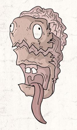 imaginative monster face