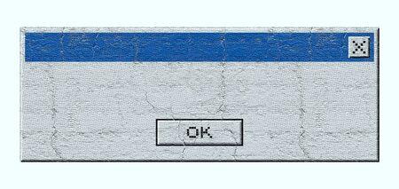 advise: Advise windows computer message Stock Photo