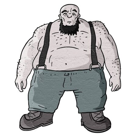 strong: Strong fat man