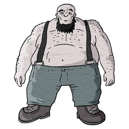 invincible: Strong fat man