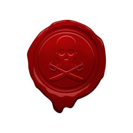 credentials: pirate wax seal design