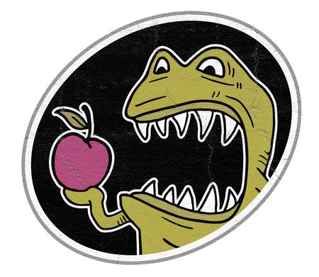symbol victim: Monster eat apple