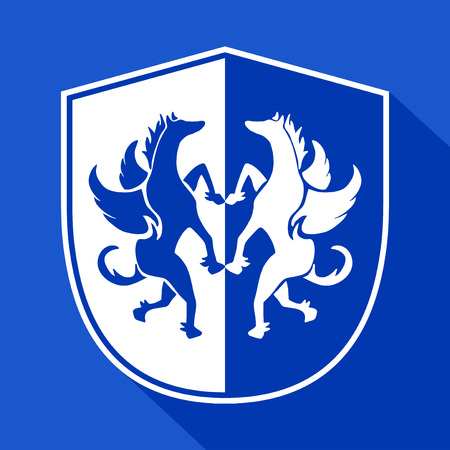 modern innovative: elegant shield symbol Illustration