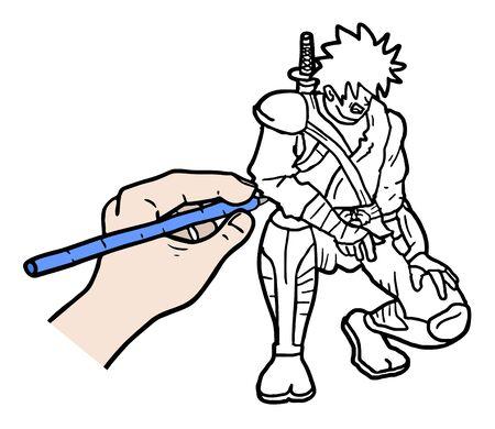 illustration: Hand illustration