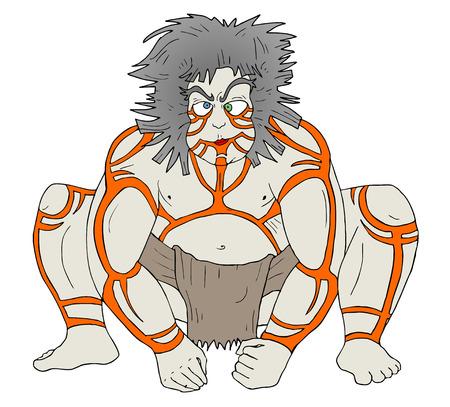 primate: barbarian primate man draw