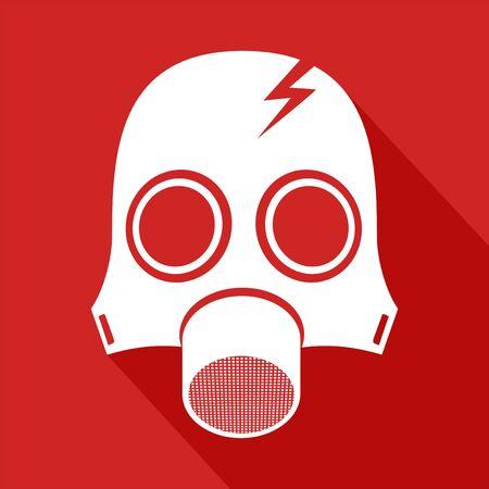 radiacion: símbolo de la máscara de la radiación