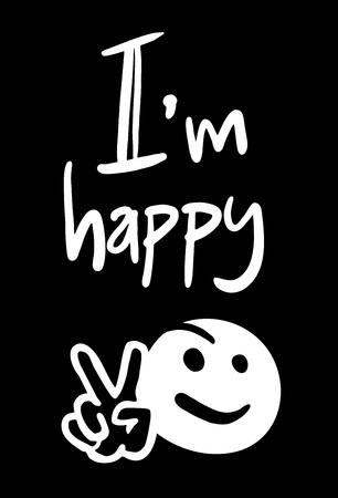 happy: happy symbol Illustration