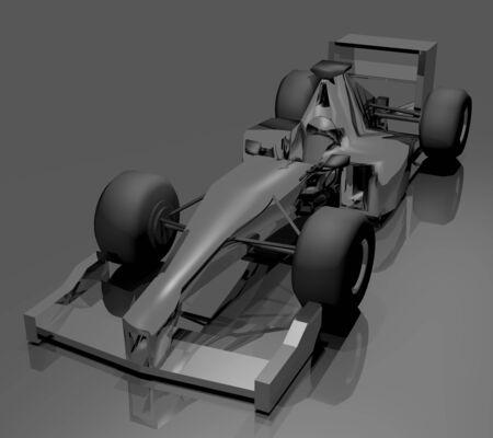 render: 3D render racing car