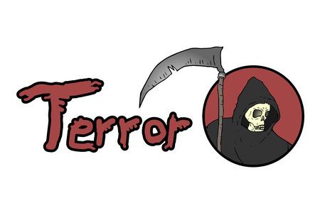 guadaña: símbolo de terror