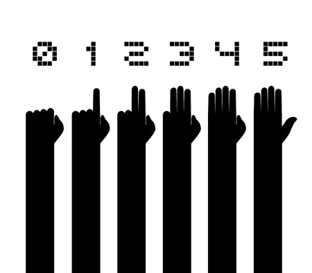 educative: hands counting symbol Illustration