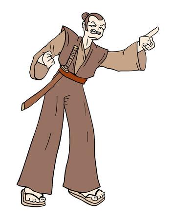 illustration: samurai illustration Illustration