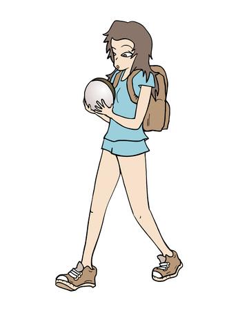 walk away: a girl going to school