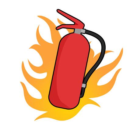 extinguisher draw Illustration