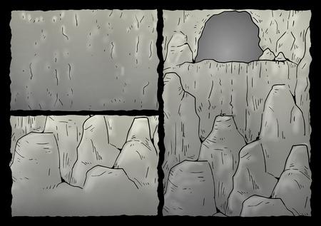 illustration: cavern illustration