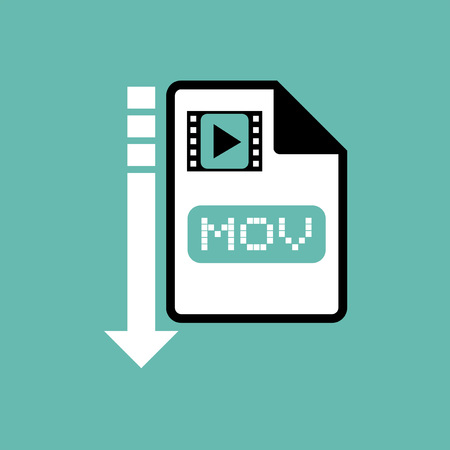 mov: computer mov file icon