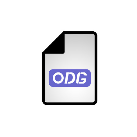 informatics: computer odg file icon Illustration