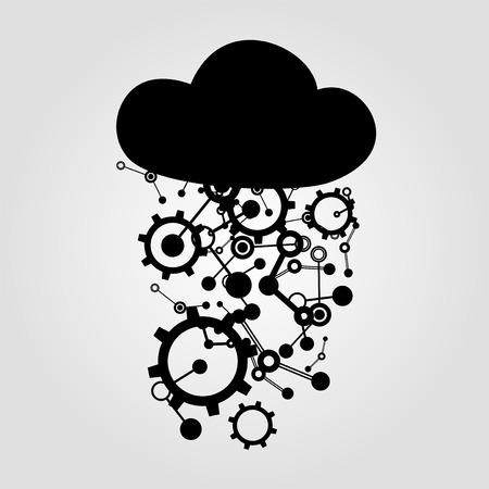 imagine a science: technology cloud symbol Illustration