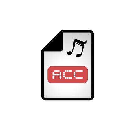 informatics: computer acc file icon Illustration