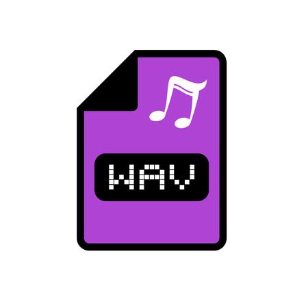 wav: computer wav file icon Illustration