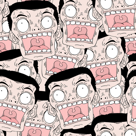 funny faces Illustration