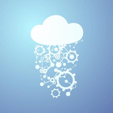 tech cloud symbol