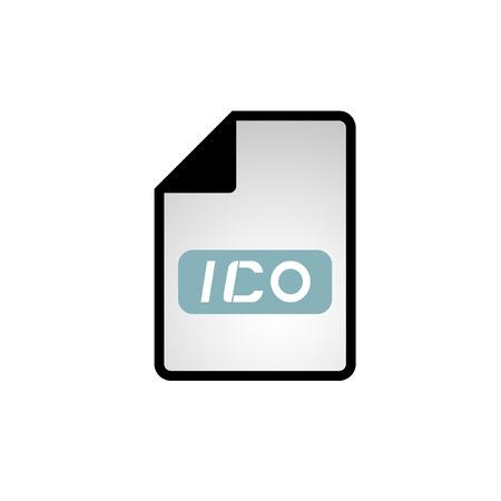 informatics: computer file icon Illustration