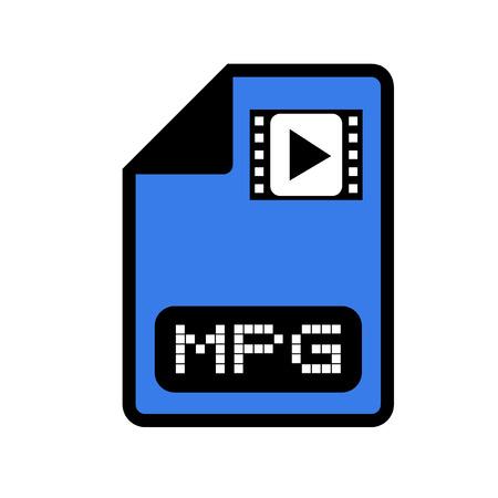 informatics: computer video file icon Illustration