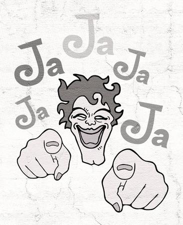 joking: joking illustration Stock Photo