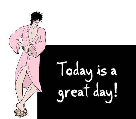 great: Today is a great day message Illustration