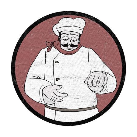 illustration: chef illustration Stock Photo