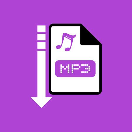 informatics: computer mp3 file icon