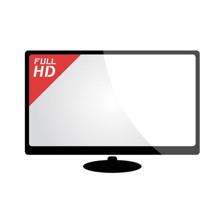 big screen: big screen television Illustration