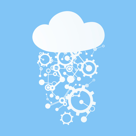 imagine a science: tech cloud symbol