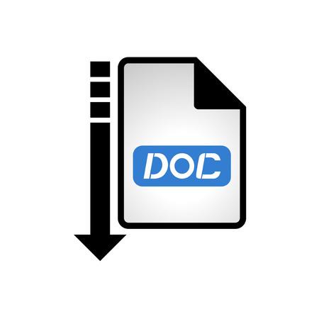 informatics: computer doc file icon Illustration