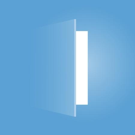 design della porta aperta Vettoriali