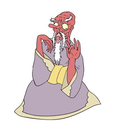 illustration: tengu illustration