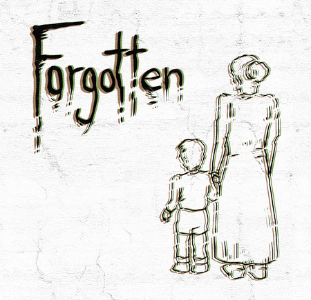 forgotten: art forgotten message Stock Photo
