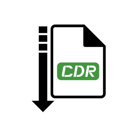 informatics: computer cdr file icon Illustration